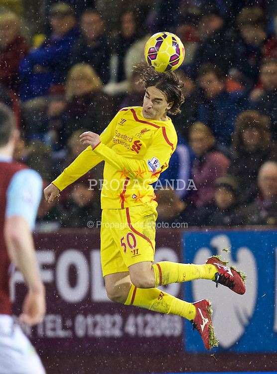BURNLEY, ENGLAND - Boxing Day, Friday, December 26, 2014: Liverpool's Lazar Markovic in action against Burnley during the Premier League match at Turf Moor. (Pic by David Rawcliffe/Propaganda)