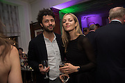 CONRAD SHAWCROSS WITH HIS WIFE CAROLINA MAZZOLARI,, The Brown's Hotel Summer Party hosted by Sir Rocco Forte and Olga Polizzi, Brown's Hotel. Albermarle St. London. 14 May 2015