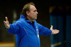 16-10-2013 VOLLEYBAL: PRINS VCV - RIVO RIJSSEN: VEENENDAAL <br /> Rivo Rijssen wint met 3-2 / trainer coach Hans Bruins<br /> ©2013-FotoHoogendoorn.nl