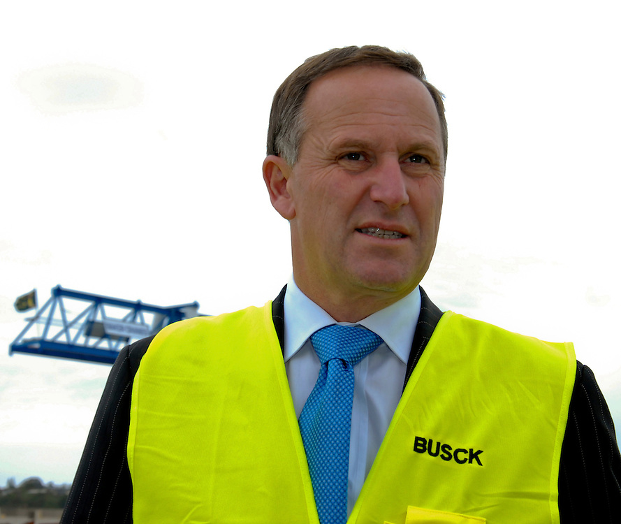 Prime Minister John Key at Busck Prestressed Concrete, Whangarei, New Zealand, Thursday November 17, 2011. Credit:SNPA / Malcolm Pullman