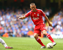 CARDIFF, WALES - SUNDAY, AUGUST 13th, 2006: Liverpool's Fabio Aurelio in action against Chelsea during the Community Shield match at the Millennium Stadium. (Pic by David Rawcliffe/Propaganda)