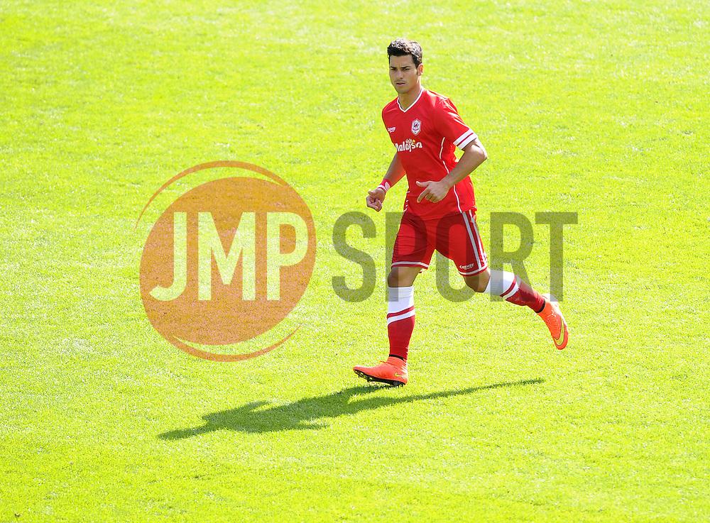 Cardiff City's Javi Guerra - Photo mandatory by-line: Joe Meredith/JMP - Mobile: 07966 386802 02/08/2014 - SPORT - FOOTBALL - Cardiff - Cardiff City Stadium - Cardiff City v VfL Wolfsburg - Pre-Season Friendly