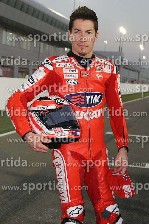 19.03.2010, Doha, Katar, QAT, MotoGP, Fahrerfotos im Bild Nicky Hayden - Ducati team, EXPA Pictures © 2010, PhotoCredit: EXPA/ InsideFoto/ Semedia / SPORTIDA PHOTO AGENCY