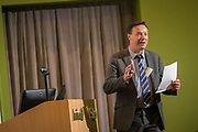 Dr. John Bartlett, IT Sligo, Head of Research, speaking at the Sligo University Hospital and Institute of Technology Sligo, Sustainability Seminar. <br /> Photo: James Connolly<br /> 07SEP17