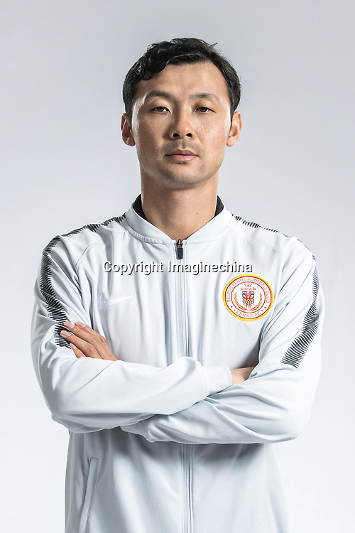 **EXCLUSIVE**Portrait of Chinese soccer player Wang Qiang of Beijing Renhe F.C. for the 2018 Chinese Football Association Super League, in Shanghai, China, 24 February 2018.