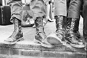 Skinheads' boots. UK. 1980's