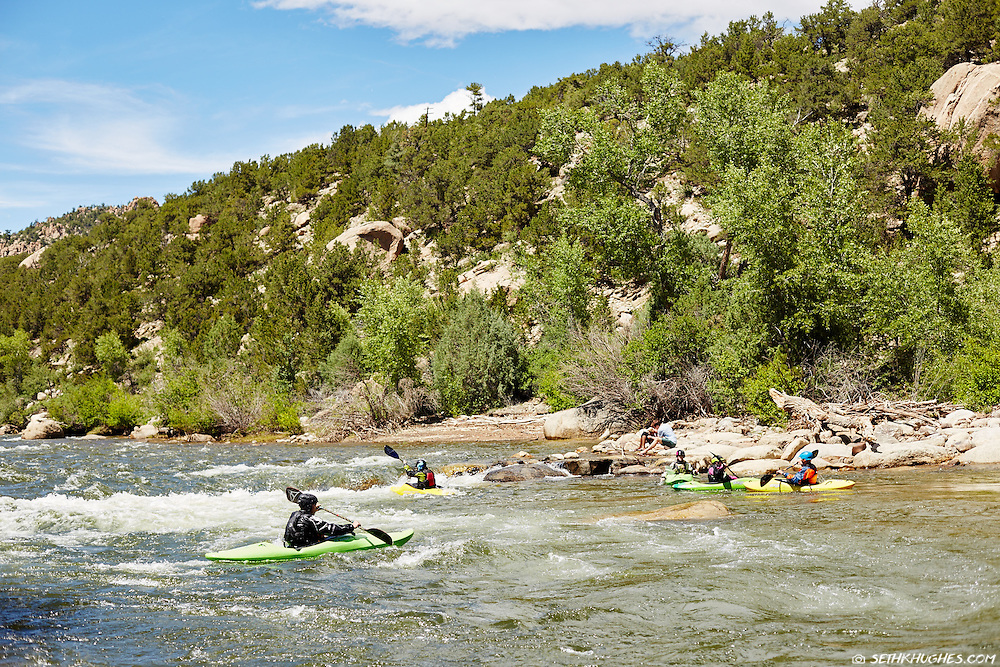 Summer at the whitewater park in Buena Vista, Colorado.