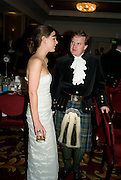LOUISA MONRO AND LORD DALMENY, The Royal Caledonian Ball 2008. In aid of the Royal Caledonian Ball Trust. Grosvenor House. London. 2 May 2008.  *** Local Caption *** -DO NOT ARCHIVE-© Copyright Photograph by Dafydd Jones. 248 Clapham Rd. London SW9 0PZ. Tel 0207 820 0771. www.dafjones.com.