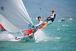 Brazil29erMenCrewBRAAE9AlexanderEssle<br />Brazil29erMenHelmBRAAD32AntonioScmulevich De Souza Aranha<br />Day5, 2015 Youth Sailing World Championships,<br />Langkawi, Malaysia