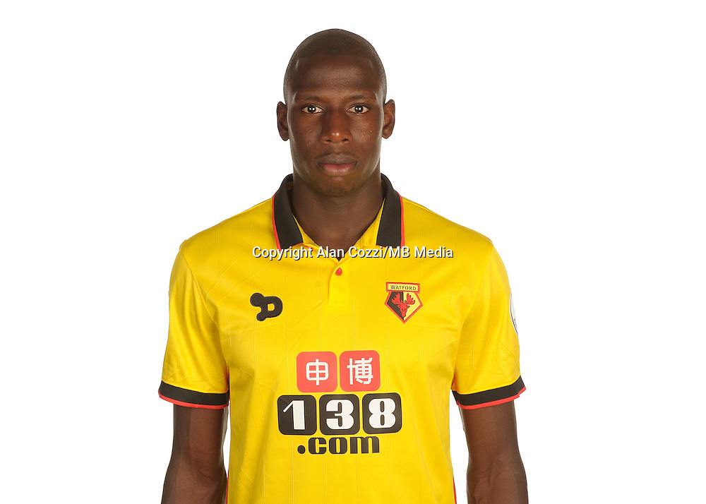 Watford FC Season 2016-17 Premier Lge<br /> Pic Alan Cozzi 02/08/2016<br /> Sopwell House Photocall Headshot's<br /> Watford's Abdoulaye Doucoure