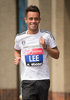 Virgin Money London Marathon 2015<br /> <br /> Lee Hendrie-UK (Footballer England & Aston Villa) one of the celebrities  competing in the IVirgin Money London Marathon<br /> <br /> Photo: Bob Martin for Virgin Money London Marathon<br /> <br /> This photograph is supplied free to use by London Marathon/Virgin Money.