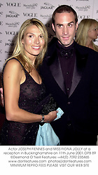 Actor JOSEPH FIENNES and MISS FIONA JOLLY at a reception in Buckinghamshire on 11th June 2001.	OPB 89
