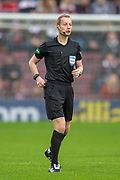 Referee William Collum during the 4th round of the William Hill Scottish Cup match between Heart of Midlothian and Livingston at Tynecastle Stadium, Edinburgh, Scotland on 20 January 2019.