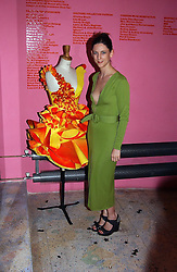 Fashion designer MARIA GRACHVOGEL at a party to celebrate the opening of an exhibition by Daisy de Villeneuve at the Fashion and Textile Museum, Bermondsey Street, London SE1 on 25th June 2004.