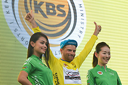March 23, 2018 - Tanjung Malim, Malaysia - Artem Ovechkin from Terengganu Team, keep the Leader Yellow Jersey after the sixth stage, the 108.5km from Tapah to Tanjung Malim, of the 2018 Le Tour de Langkawi. .On Friday, March 23, 2018, in Tanjung Malim, Malaysia. (Credit Image: © Artur Widak/NurPhoto via ZUMA Press)