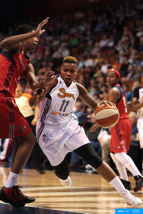 Natasha Lacy, Connecticut Sun, in action during the Connecticut Sun V Washington Mystics WNBA regular season game at Mohegan Sun Arena, Uncasville, Connecticut, USA. 7th June 2013. Photo Tim Clayton