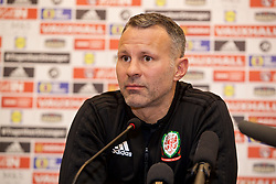 TIRANA, ALBANIA - Monday, November 19, 2018: Wales' manager Ryan Giggs during a press conference at the Tirana International Hotel ahead of the International Friendly match between Albania and Wales. (Pic by David Rawcliffe/Propaganda)