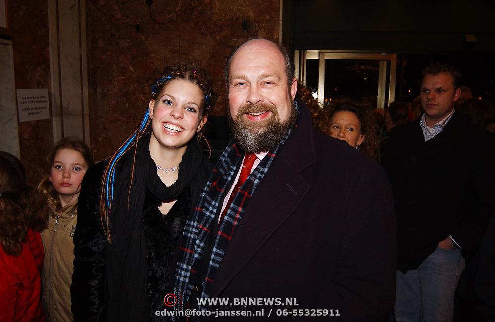 Premiere Wereldkerstcircus 2003, Bert Simhoffer en partner Yvette van Damme
