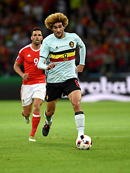 Marouane Fellaini of Belgium  - Mandatory by-line: Joe Meredith/JMP - 01/07/2016 - FOOTBALL - Stade Pierre Mauroy - Lille, France - Wales v Belgium - UEFA European Championship quarter final