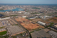 Aerial Image of Baltimore City with old GM plant Duke properties in foreground