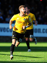 Bristol Rovers' Matty Taylor celebrates - Photo mandatory by-line: Neil Brookman - Mobile: 07966 386802 - 11/10/2014 - SPORT - Football - Aldershot - Recreation Ground - Aldershot Town v Bristol Rovers - Vanarama Football Conference