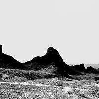 A striking rock formation on the way to Lake Havasu City.
