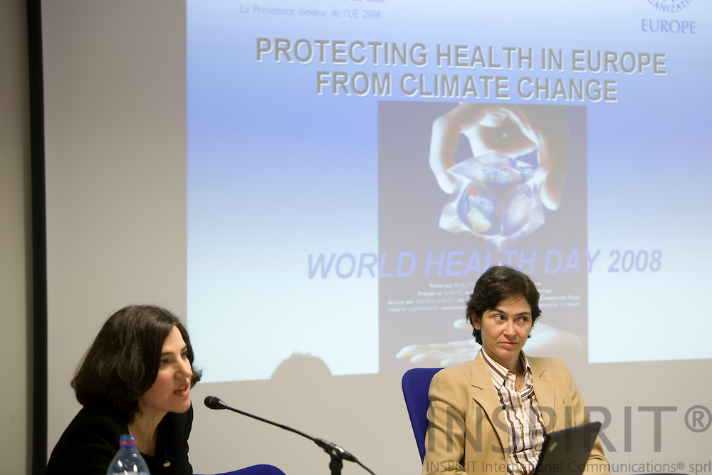BRUSSELS - BELGIUM - 07 APRIL 2008 --  WORLD HEALTH DAY 2008 -- Isabel de la MATA BARRANCO, Principal Advisor DG of Health & Comsumer Protection, during the conference on Protecting Health from Climate Change. Photo: Erik Luntang/INSPIRIT Photo
