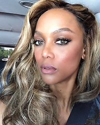 "Tyra Banks releases a photo on Instagram with the following caption: ""Happy Sunday to YOU! My hair fell around the seatbelt so beautifully, so I had to take a selfie. Don\u2019t worry, I\u2019m in the back seat. Safety first!"". Photo Credit: Instagram *** No USA Distribution *** For Editorial Use Only *** Not to be Published in Books or Photo Books ***  Please note: Fees charged by the agency are for the agency's services only, and do not, nor are they intended to, convey to the user any ownership of Copyright or License in the material. The agency does not claim any ownership including but not limited to Copyright or License in the attached material. By publishing this material you expressly agree to indemnify and to hold the agency and its directors, shareholders and employees harmless from any loss, claims, damages, demands, expenses (including legal fees), or any causes of action or allegation against the agency arising out of or connected in any way with publication of the material."