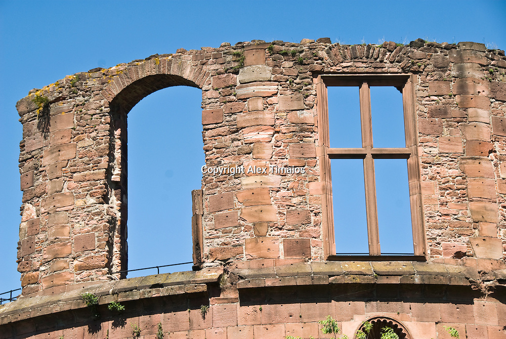 Heidelberg, the ruins of the red castle