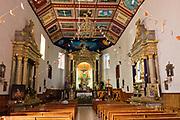Interior view of the Parroquia de San Diego de Alcalá church in Quiroga, Michoacan, Mexico.