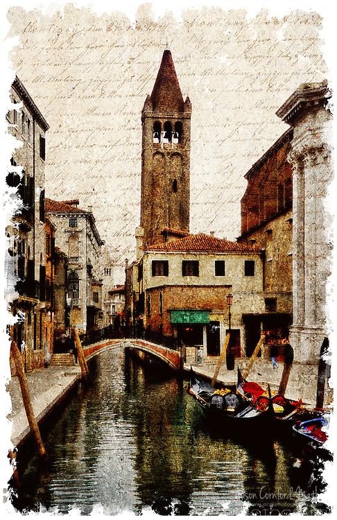 Venice, Italy 1 - Forgotten Postcard digital art collage