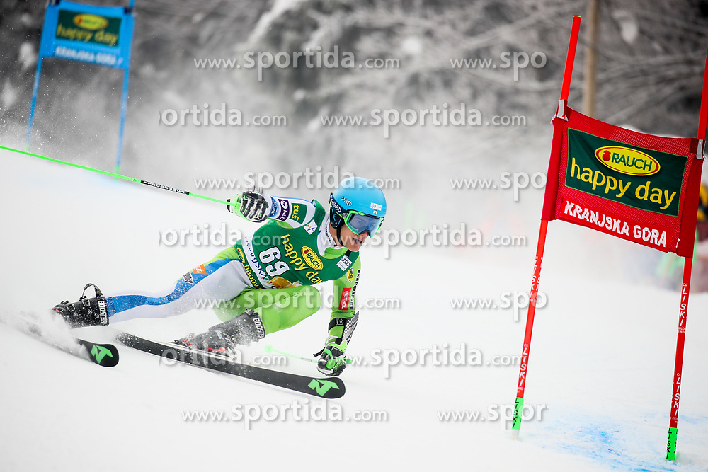 Borut Bozic of Slovenia competes during 1st run of Men's GiantSlalom race of FIS Alpine Ski World Cup 57th Vitranc Cup 2018, on March 3, 2018 in Kranjska Gora, Slovenia. Photo by Ziga Zupan / Sportida