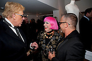 ANTHONY PRICE; ZANDRA RHODES; ,  My favorite dress book launch hosted by Susy Menkes and Zandra Rhodes. Fashion Museum. London. In Support of Save the Children. 11 January 2010
