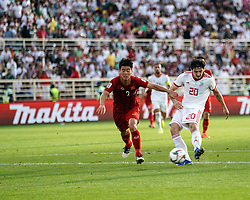 January 12, 2019 - Abu Dhabi, Abu Dhabi, United Arab Emirates - Sardar Azmoun of Iran scoring to 2-0 in the 69rd minute   during Vietnam v Iran, AFC Asian Cup football, Nahyan Stadium, Abu Dhabi, United Arab Emirates on January 12, 2019  (Credit Image: © Ulrik Pedersen/NurPhoto via ZUMA Press)