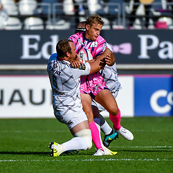 Luke Braid of Bordeaux and Jules Plisson of Paris during Top 14 match between Stade Francais and Union Bordeaux Begles on September 1, 2018 in Paris, France. (Photo by Aude Alcover/Icon Sport)