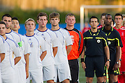 07 September 2012:  UBC shuts out Calgary in regular season opener.  The UBC Thunderbirds men's soccer team started off their regular season on Friday night with a convincing 3-0 win over the University of Calgary Dinos at Thunderbird Stadium, University of British Columbia, Vancouver, BC, Canada.  Final Score:  UBC 3   U of C  0 ****(Photo by Bob Frid/UBC Athletics 2012 All Rights Reserved)