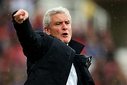 Stoke City manager Mark Hughes shouts - Mandatory by-line: Matt McNulty/JMP - 30/09/2017 - FOOTBALL - Bet365 Stadium - Stoke-on-Trent, England - Stoke City v Southampton - Premier League