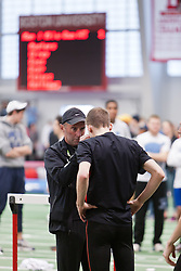 Boston University Terrier Invitational Indoor Track Meet: Galen Rupp, Oregon Project, gets pre-race aid from coach Alberto Salazar