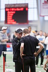 Boston University Terrier Invitational Indoor Track Meet: Galen Rupp, Oregon Project, gets pre-race aid from coach Alberto Salazar