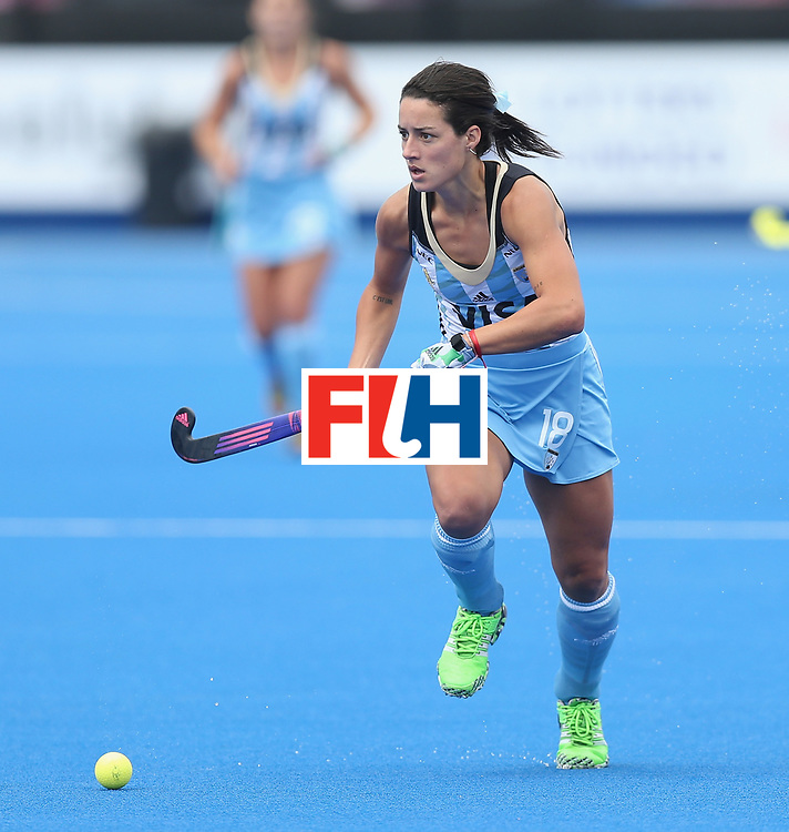 LONDON, ENGLAND - JUNE 21:  Pilar Romang of Argentina during the FIH Women's Hockey Champions Trophy match between Australia and Argentina at Queen Elizabeth Olympic Park on June 21, 2016 in London, England.  (Photo by Alex Morton/Getty Images)