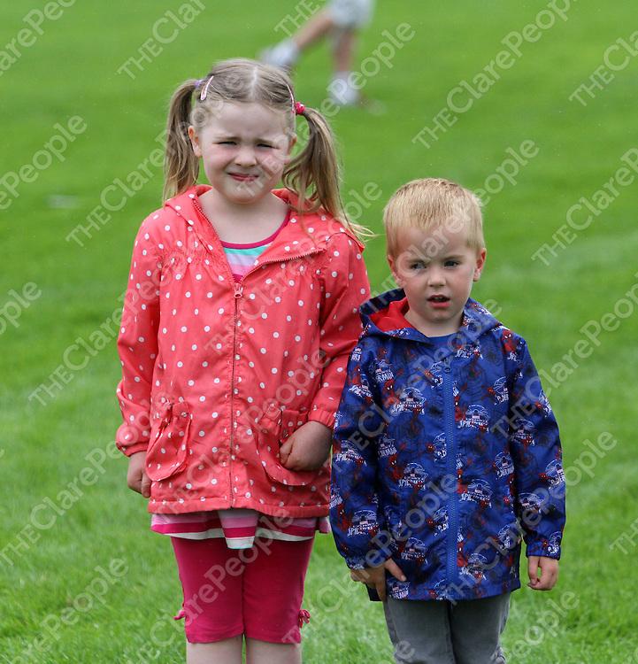 4/8/13 Emma Considine and Cian Downes were enjoying the Cooraclare Field Day. Pic Tony Grehan