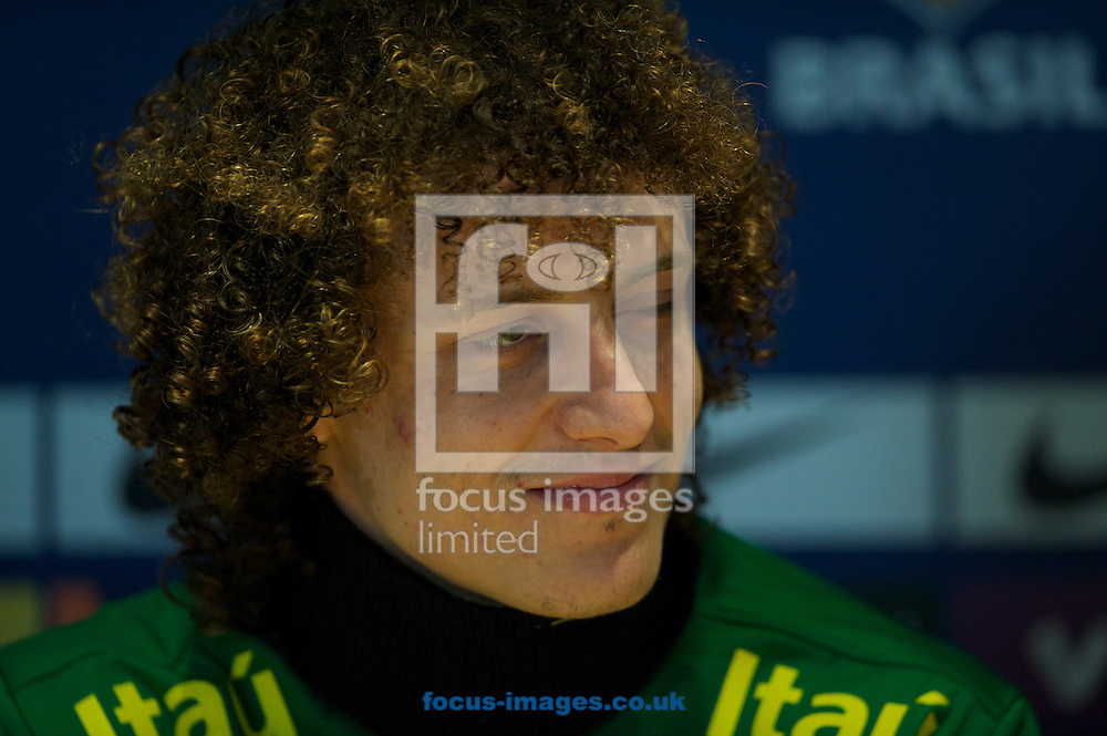 Picture by Alan Stanford/Focus Images Ltd +44 7915 056117.24/03/2013.David Luiz during the Brazil PC at Stamford Bridge, London.