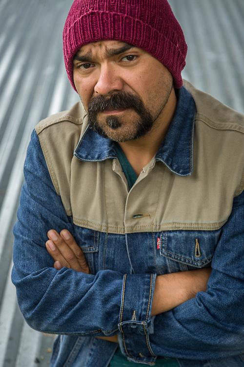 Visual story teller,  film maker and teacher Javier Barboza at the Sitka Fine Arts Camp, Sitka, Alaska