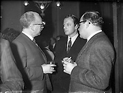 To introduce the international Smirnoff Vodka a tasting was held in the premises of Messrs. Gibney, O'Connell Street.  It was attended by hoteliers from Dublin City and County and by Commitee members of the Licensed Vintners and Grocers Association.<br /> 14.02.1962