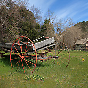 Old Wooden Wagon And Ice House - Oak Glen CA