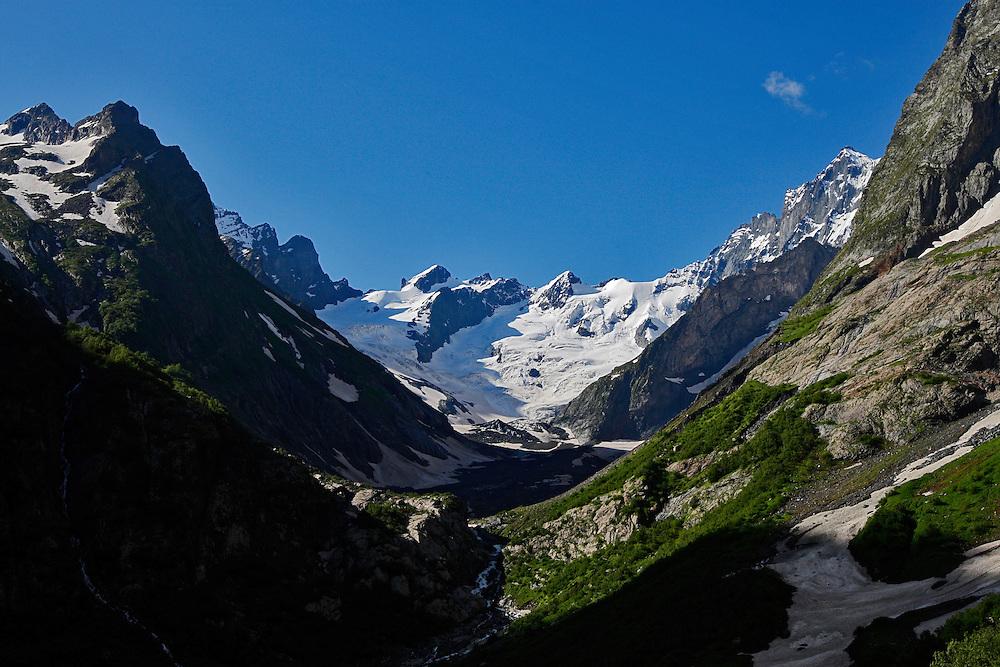 Russia, Caucasus, Teberdinsky biosphere reserve. Amanauz Valley near Dombay.