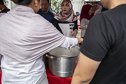 May 13, 2019 - Jakarta, Jakarta, Indonesia - Jakarta, Indonesia, 13 May 2019 : Daily life ramadan at Sabang Street - Jakarta. Muslim were prepared for breaking fasting buying food at Sabang Street known as cullinary place to find good food. (Credit Image: © Donal Husni/ZUMA Wire)
