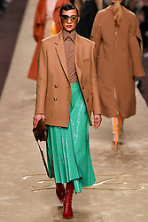 February 21, 2019 - Milan, Italy - Image licensed to i-Images Picture Agency. 21/02/2019. Milan, Italy. Fendi show at Milan Fashion Week for Autumn/ Winter 2019, following the death of Karl Lagerfeld. (Credit Image: © i-Images via ZUMA Press)