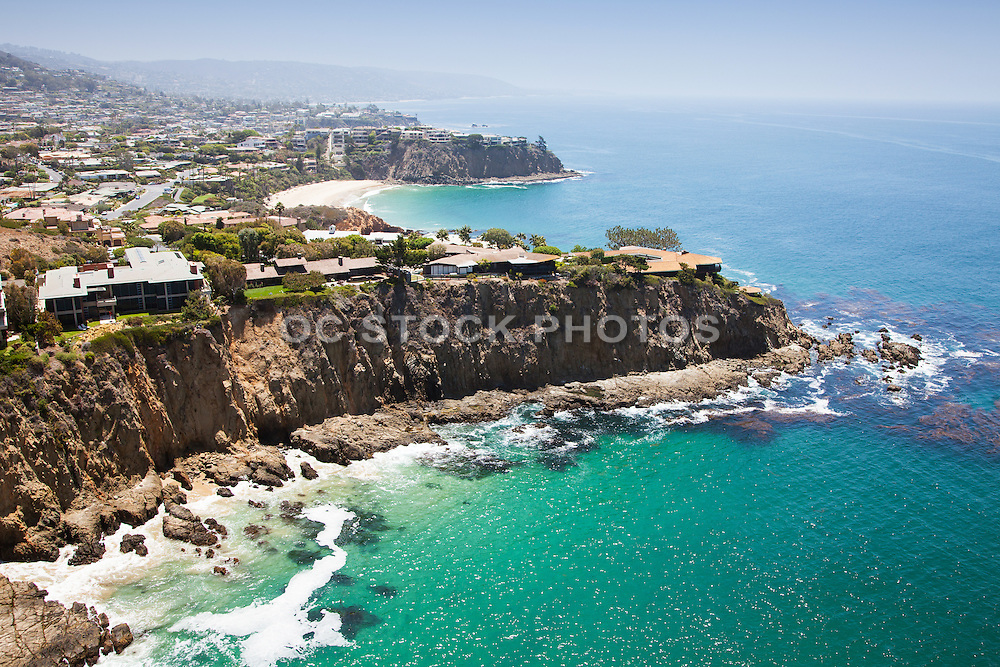 Aerial Photo of Abalone Point and Emerald Point of Laguna Beach  Facing South