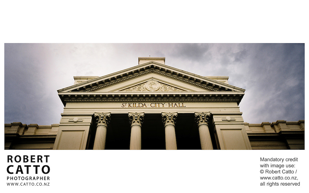 St Kilda Town Hall at St Kilda, Melbourne, Victoria (VIC), Australia.